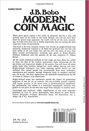 Modern Coin Magic: 116 Coin Sleights and 236 Coin Tricks: J. B. ...