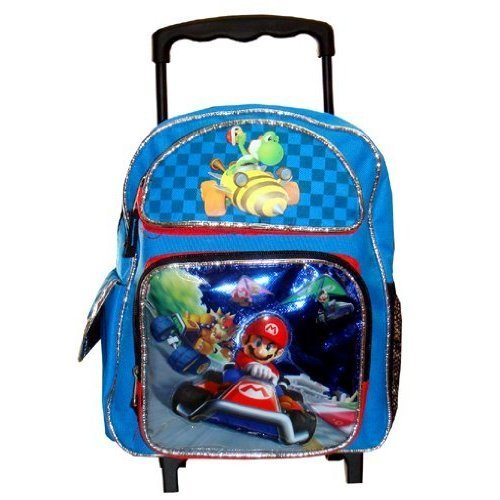 Amazon.com: Super Mario Cart 7 - Large Rolling Backpack: Sports & Outdoors