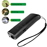 BAOTATUI Anti Barking Stop Bark Handheld 3 in 1 Pet LED Ultrasonic Dog Repeller and Trainer Device - Dog Deterrent/Training Tool/Stop Barking - Black