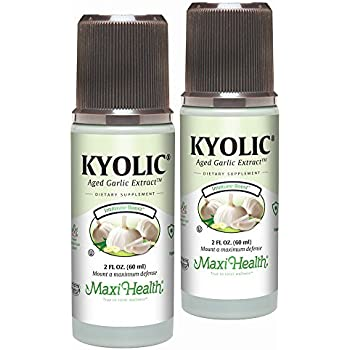 Maxi Health Liquid Kyolic - Aged Garlic Extract , Immune Booster , 2-Ounce Bottle Twin Pack , Kosher