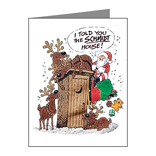 (Greeting Cards (10 Pack) Santa Claus Told The Schmidt House)