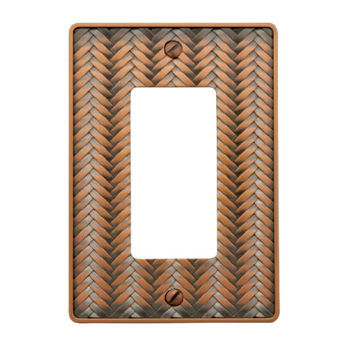 - AmerTac 89RAC Weave Cast Metal Single Rocker-GFCI Wallplate, Antique Copper
