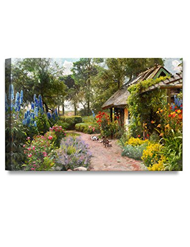 DECORARTS - Peder Mork Monsted Landscape Painting Reproduction. Giclee Print on Canvas Art for Home Decor 30x20x1.5