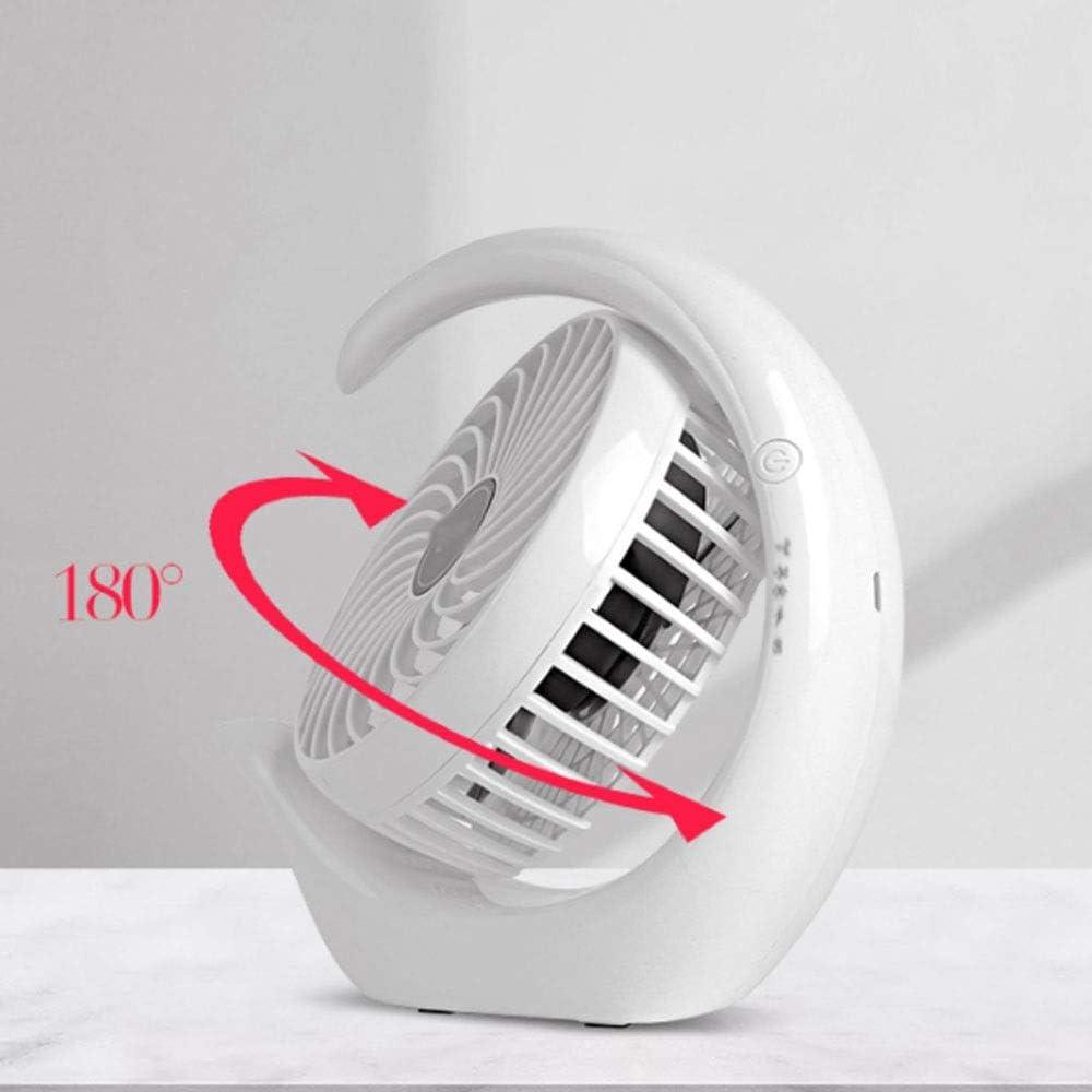 WPCBAA USB Rechargeable Fan,Quiet Air Circulator Fan, Mini Portable Fan White Personal Mini Desk Fan