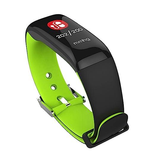 SLH Mujer Pulsera de Actividad Reloj Lnteligente con Pulsómetro Reloj Fitness Podómetro Compatible iOS y Android Teléfono(Verde): Amazon.es: Relojes