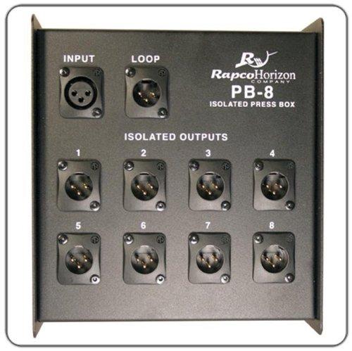 8 Ch Di Box (Rapco Horizon PB-8 1-Inout/8-Output Press Box)