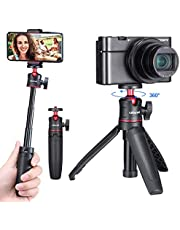 ULANZI MT-08 Extension Vlog Phone Tripod Mount Stand Holder Grip for iPhone 11/11Pro/11 Pro Max Samsung OnePlus Google Smartphone Canon G7X Mark III Sony RX100 VII A6400 A6600 Compact Cameras Vlogging
