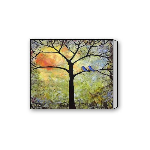 Beautiful Modern Art Abstract Painting Colorful Tree of Life C