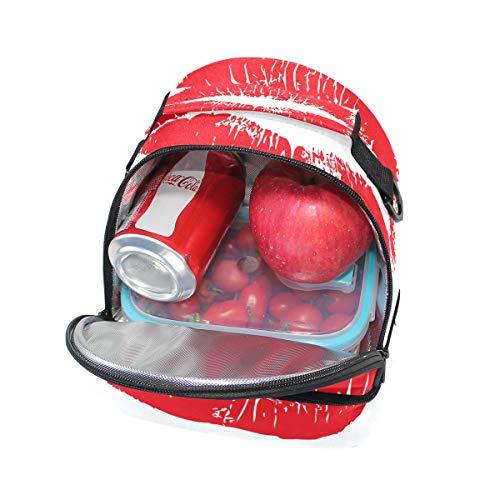 rojo para Bolso picnic color labios el de almuerzo ajustable doble para correa sexy grandes hombro pwUaRgpqn