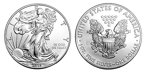 (2015 Silver Eagle with Airtight Holder $1 Brilliant Uncirculated)