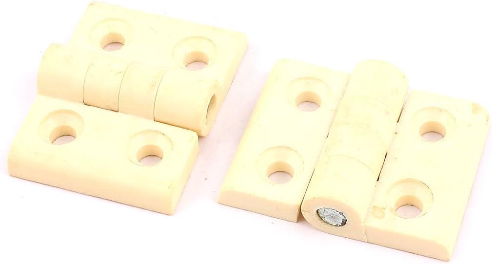 X-Dr 4.6cmx6cm Plástico Plegable Gabinete Puerta Closet Puerta Bisagra 2 piezas blanco (ec0e3e6cc8e197139274425d0e9b694c)