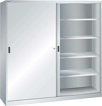 Lista Armario con vollblec htüren – 8 Estantes, color gris – Puerta corredera puerta armarios Armarios: Amazon.es: Bricolaje y herramientas