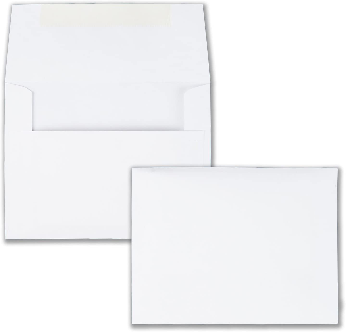 Quality Park Invitation Envelopes, #5.5, White, 4.375 x 5.75 inches, Box of 100 (36217) : Greeting Card Envelopes : Office Products