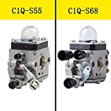 HIPA C1Q-S68 Carburetor with Air Filter Fuel Filter Spark Plug for Stihl Blower BG45 BG46 BG55 BG65 BG85 SH55 SH85 BR45C