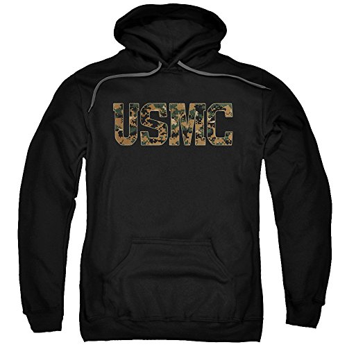 Trevco US Marine Corps USMC Camo Fill Unisex Adult Pull-Over Hoodie For Men and Women