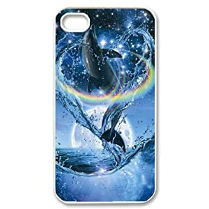 Dolphin CHA6026879 Phone Back Case Customized Art Print Design Hard Shell Protection Iphone 4,4S