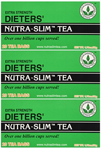 3 Boxes 20 Tea Bags - THREE BOXES of Triple Leaves Nutra-slim Tea 20 Tea Bags