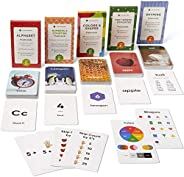 Think Tank Scholar Preschool Flash Cards Bundle - Alphabet (ABC) Letters, Math Numbers & Counting, Colors