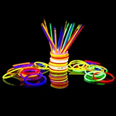 """300 Glow Sticks Bulk Party Supplies - Glow in The Dark Fun Party Pack Super Bright 8"""" Glowsticks Connectors Bracelets Necklaces (Multi Color)"""