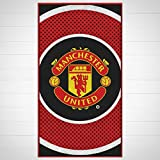 Manchester United F.C. Towel Be. Large Velour Beach Towel Approx 150Cm X 75Cm 59In X 29In 100% Cotton Official Licensed Football Merchandise