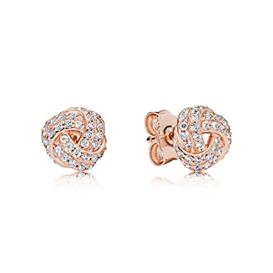 55c4a65a3 Amazon.com: Pandora Sparkling Love Rose Gold One Size Earring 280696CZ:  Jewelry
