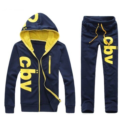 Hee Grand Men's Casual Sports Suit Hoodies + Trousers
