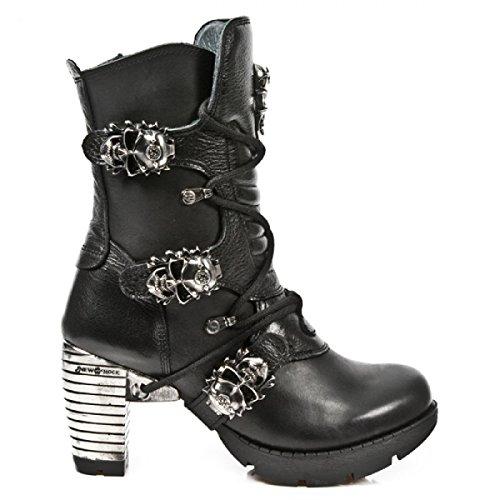 New Rock Boots M.tr026-c10 Elegante Roccia Urbana Damen Stiefelette Schwarz