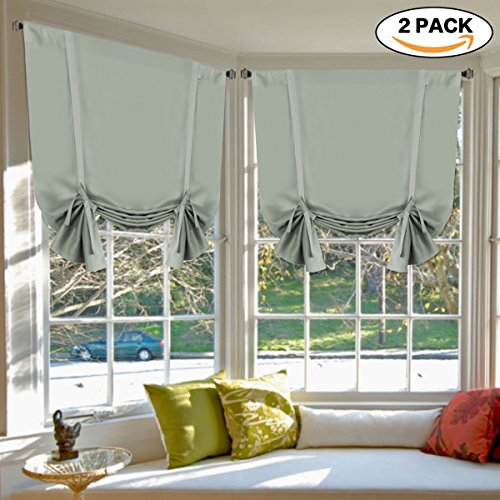 Blackout Tie Up Curtain Light Reducing Energy Efficient Wind