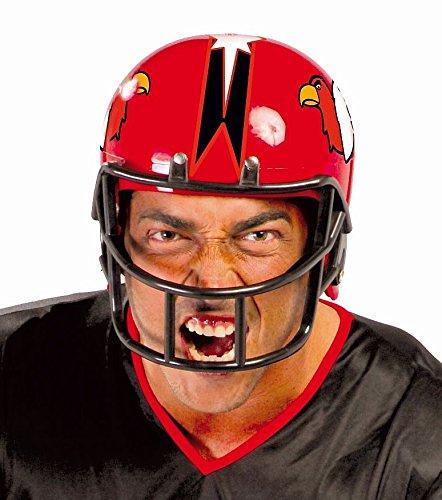 AMERICAN FOOTBALL HELM - rot, 59 cm, Nationalsport Sportart Player Spieler Sportler Quarterback NFL USA Trikot Cheerleader Ballspiele
