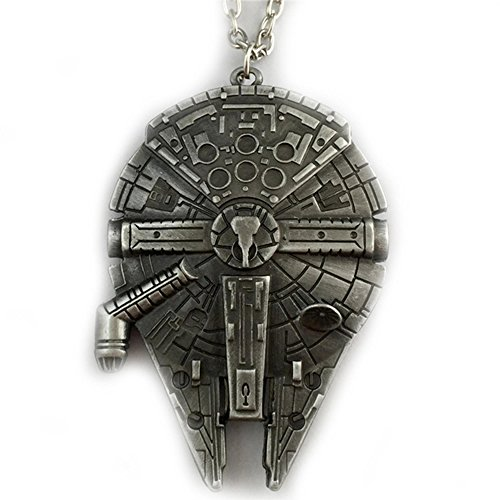 Star Wars Millenium Falcon Metal Pendant Necklace