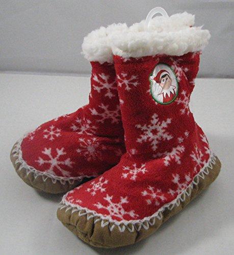 [Elf on the Shelf Tall Slipper Socks Shoe Size 8-13] (Elf On Shelf Costumes)