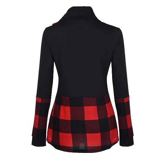 YJYDADA - Camiseta de manga larga para mujer, diseño de blusas ...