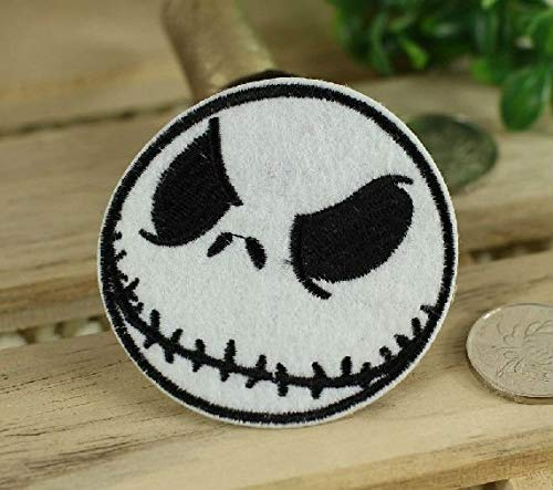 Nightmare Before Christmas Cool Embroidered Iron On Patch Halloween Horror Cartoon Applique Badge DIY Costume -