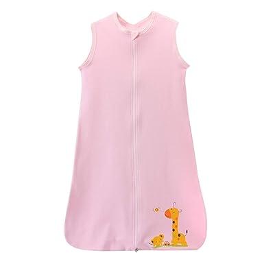 1fc40c18f33 YASSON Gigoteuse Bébé Sac de Couchage Fin sans Manche Animal Girafe Imprimé  Mignon Eté  Amazon.fr  Vêtements et accessoires
