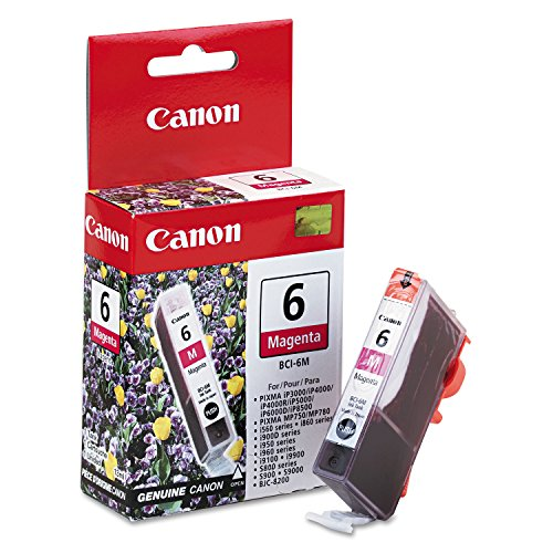 Canon BCI6M (BCI-6) Ink Cartridge, Magenta - in Retail Packaging