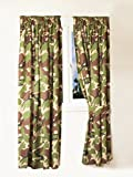 Kids Army Camouflage Curtains 66' Width x 72' Drop