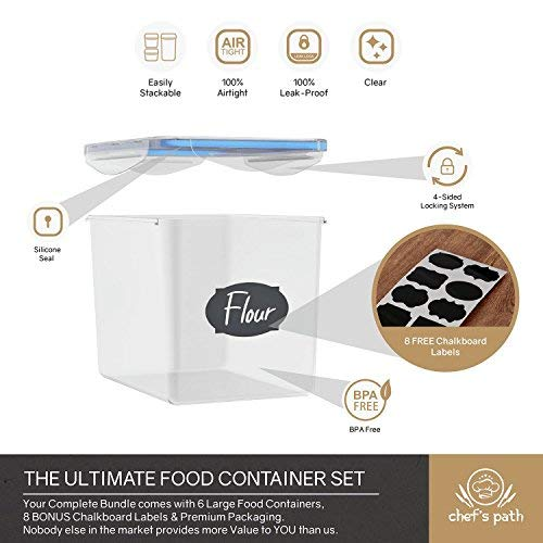 Kitchen Storage Container Labels: Chef's Path Large Food Storage Containers