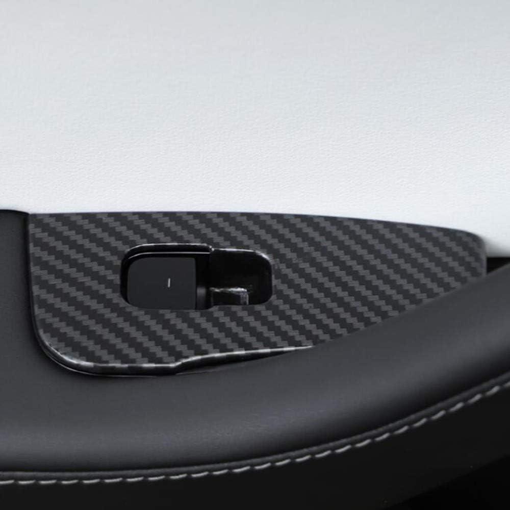 YXNVK ABS Chrome Voiture Porte Int/érieure Fen/être Ascenseur en Verre Interrupteur Boutons Couverture Moulage Car Styling pour Tesla Mod/èle 3 4 PCS