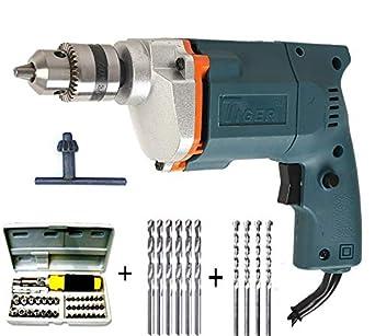 Tiger Dee Power 10 mm Drill Machine with 41 Pcs Screwdriver Power + 6 Hss Bit+ 4 Masonry Bit