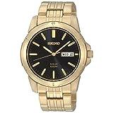 Seiko Men's SNE100 Gold Solar Dress Watch
