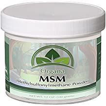 The BEST MSM (Opti MSM) By Organa - Pure Fast Dissolving Crystal Powder Of Distilled Methylsulfonylmethane – Nutritious, Effective And Safe Dietary Supplement –Hypoallergenic - No Fillers or Additives