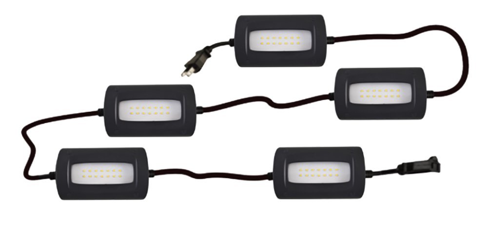 StonePoint LED Lighting Ultra Bright 50 Foot Ultra Bright Linkable Lights Job Site Lighting - Non-Breakable Weatherproof Industrial Grade Full Coverage Utility 55 Watts 5000 Lumens