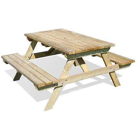 Phenomenal Wooden Garden Picnic Table Bench Pub Style Outdoor Furniture 5Ft By Westmount Living Inzonedesignstudio Interior Chair Design Inzonedesignstudiocom