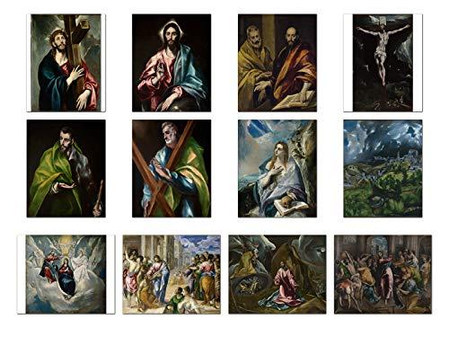 Wish Pub - Set of 12 Unframed Fine Art Prints, El Greco, 12x16 inch