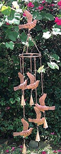 Metal Wind Chime Birds Nature Inspired Antique Copper Classic With Bells Yard Garden Decoration Indoor Outdoor 5