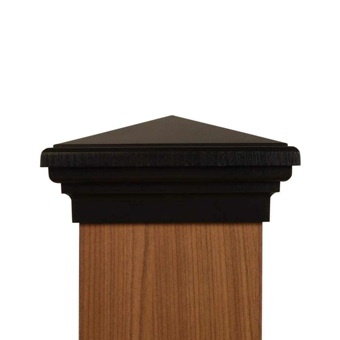 6x6 Post Cap (Nominal) - Black Pyramid Top (Case of 14) - With 10 Year Warranty by Atlanta Post Caps