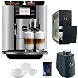 jura capresso giga 5 - Jura 13623 Giga 5 Automatic Coffee Machine, Aluminum Includes Jura 131 Degree Cup Warmer, Jura Milk Container, Jura Cleaning Tablets and Two Espresso Cups and Saucers
