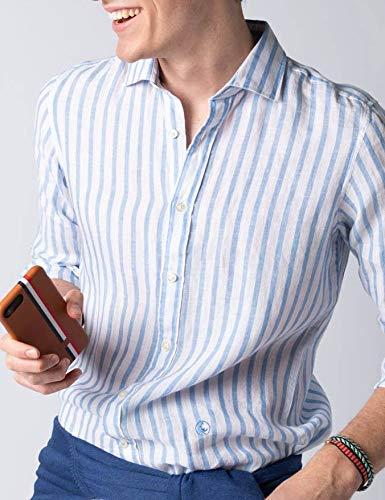 El Ganso 1050S190053 Camisa Casual, Azul (Celeste 0053), L para ...
