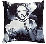 Velour Luxe Classic Movie Star Pillow 15-in (Marlene Dietrich)