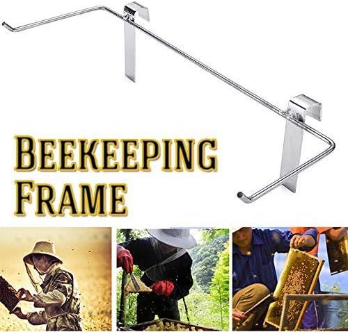 Terrarum Bienenenholz-Rahmen aus Edelstahl für Bienenenstock mit Wabenstruktur